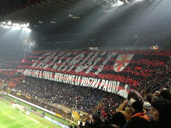 Milan derby displays