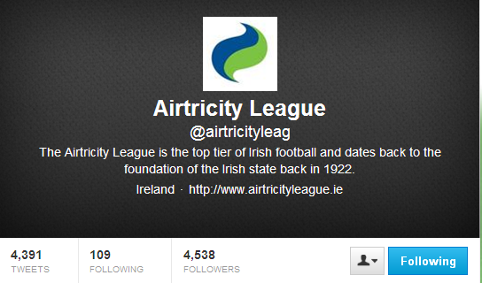Airtricity League twitter
