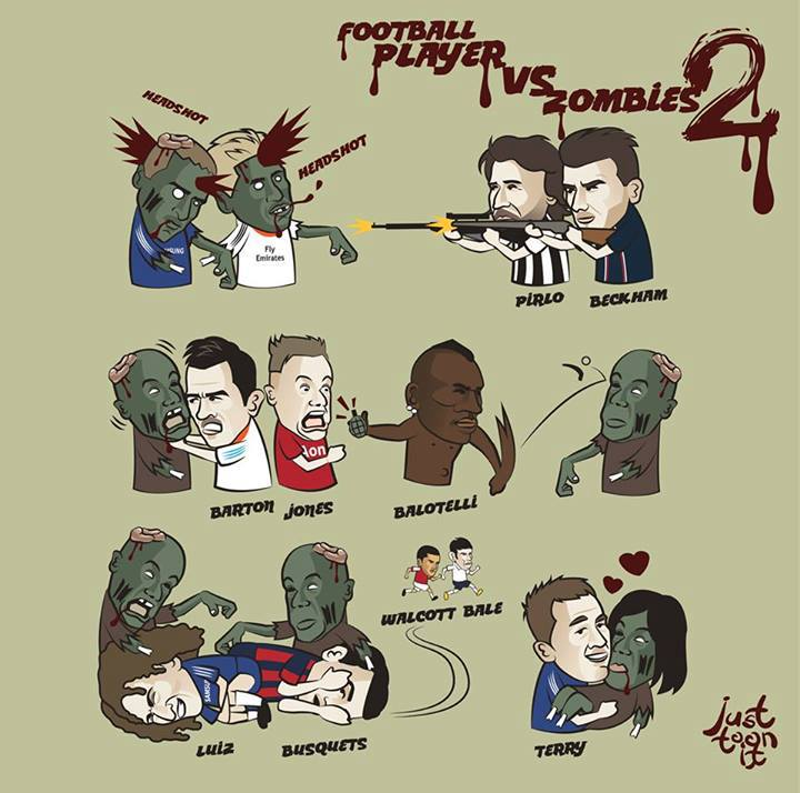 Footballers vs zombies 2