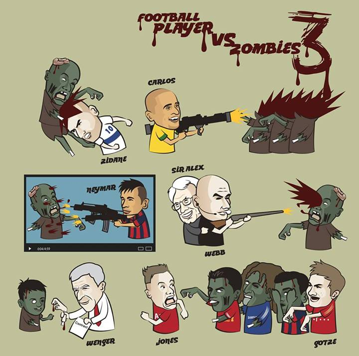 Footballers vs zombies 3