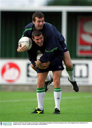 Roy Keane Gary Breen 4 Oct 2001