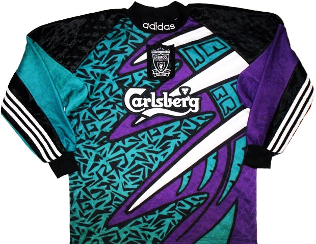 new products aa1de bd7f0 Liverpool goalkeeper jersey from the 1996 season. 90s ...