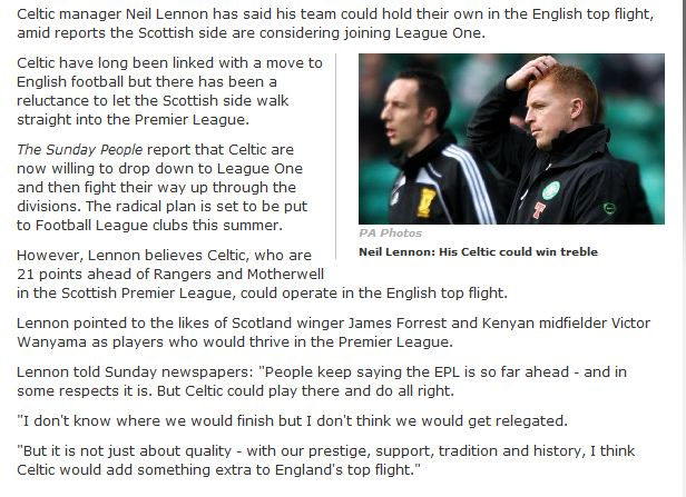 Celtic Could Make The Switch To English League One | Balls ie