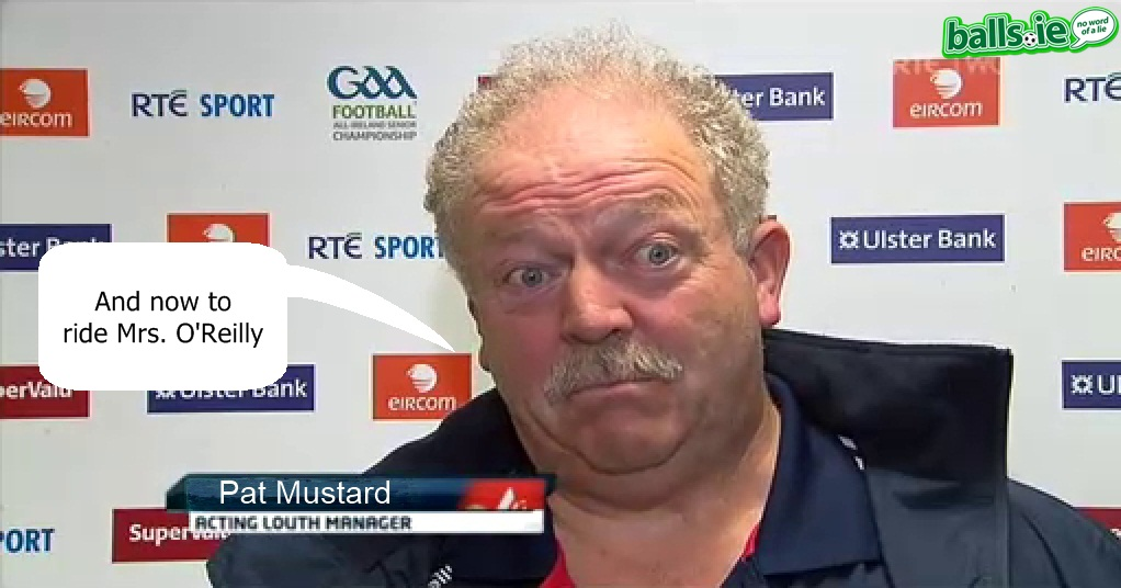acting louth manager gerry cummiskey is a dead ringer for