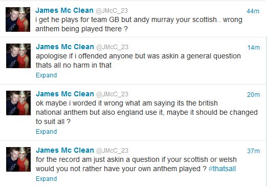 James McClean Weighs In On Andy Murray Singing The English