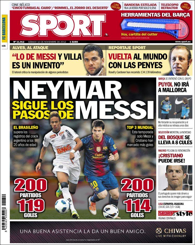 The Front Page Of Today's Spanish Newspaper Sport  | Balls ie