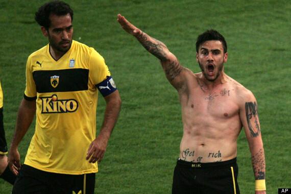 Greek footballer nazi salute