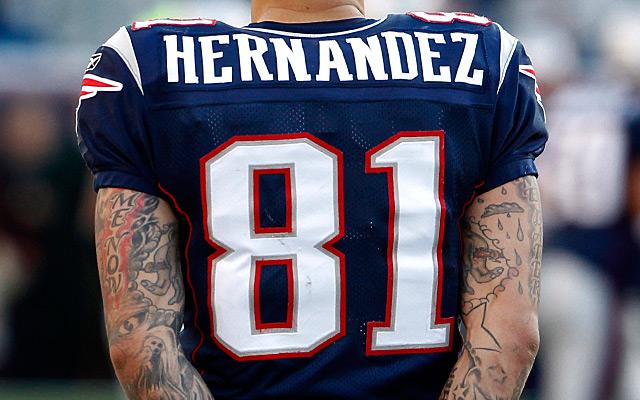 Aaron Hernandez Jerseys Are Going For Big Money. NFL  Buffalo Bills at New  England Patriots 2b0267a0e