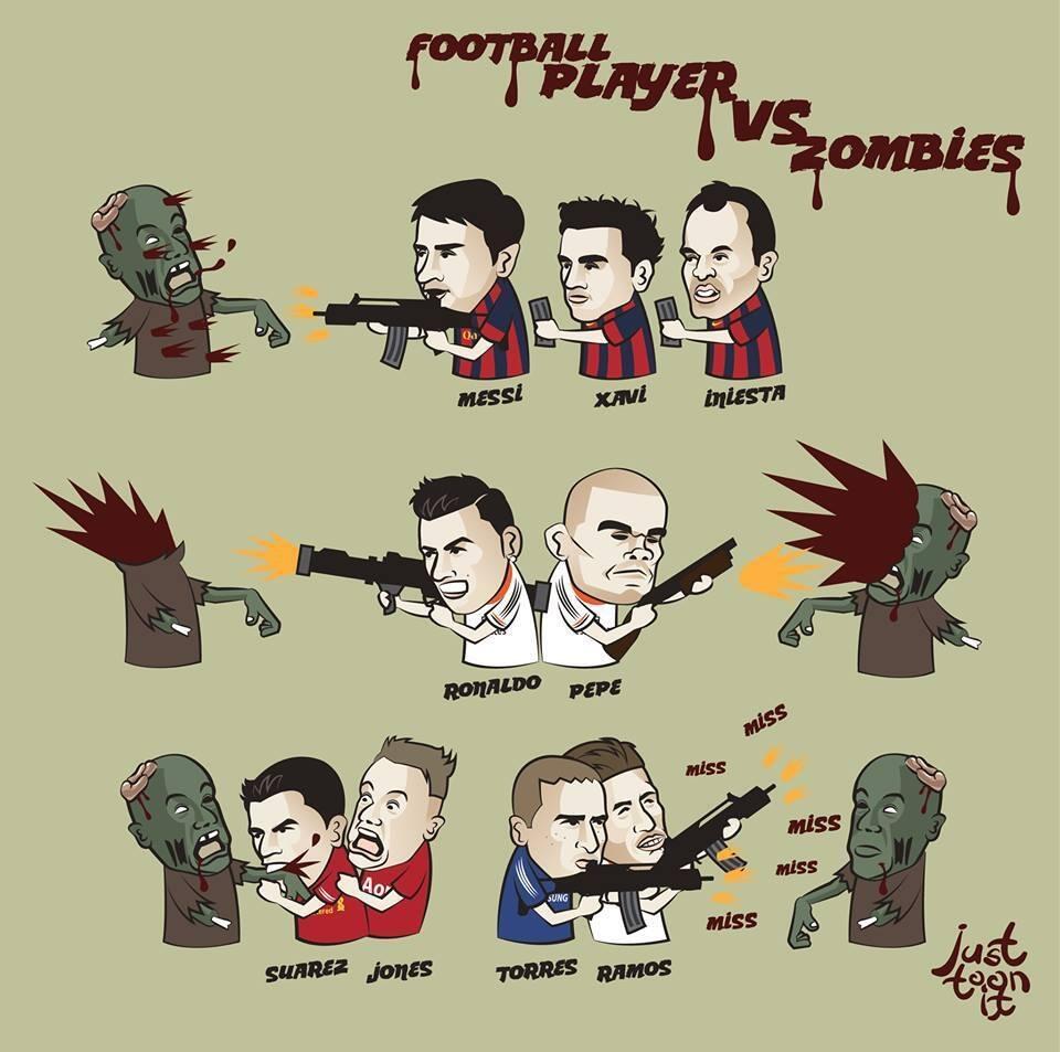 Footballers vs zombies 1