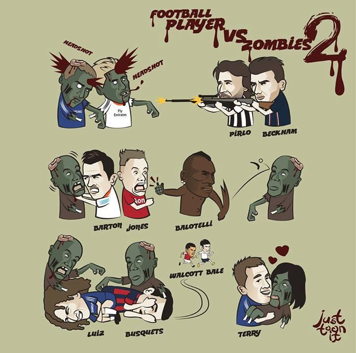 Footballers vs zombies 2
