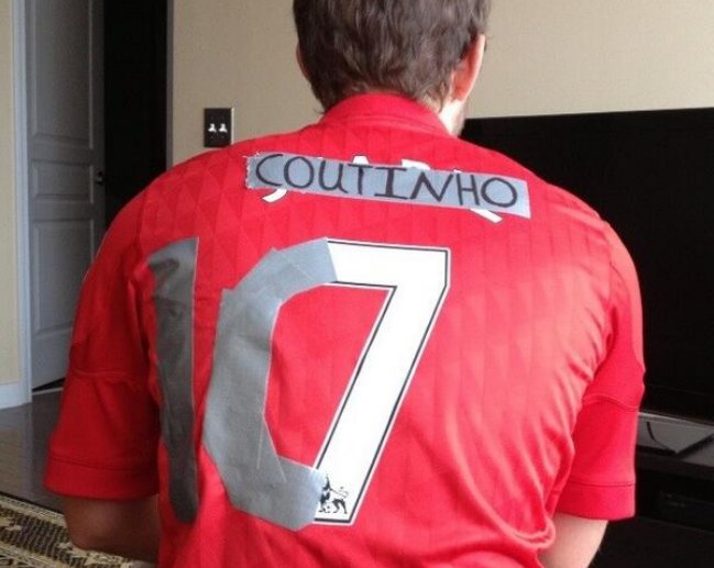 new style b1a2f 7b527 Liverpool fan's DIY Coutinho jersey | Balls.ie