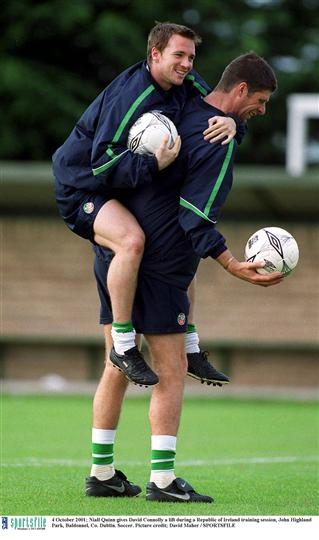 Niall Quinn David Connolly 4 Oct 2001