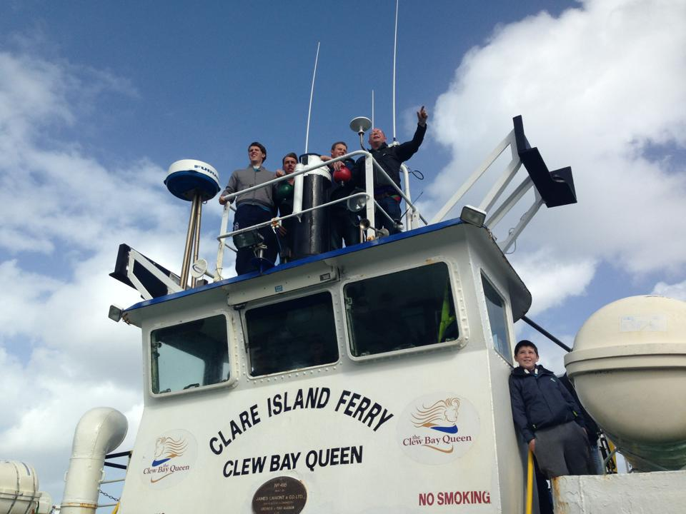 clare island winners arrive home