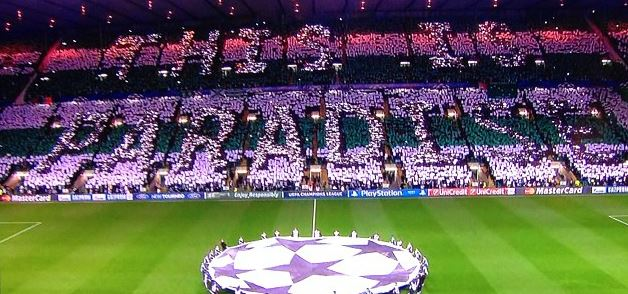 Brilliant Celtic Tifo Before Barcelona Match Balls Ie