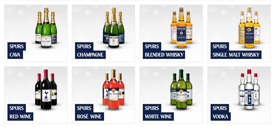 Spurs Alcohol Range