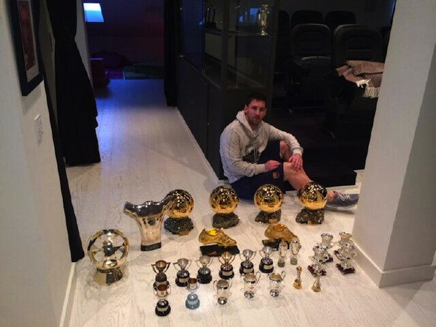 Lionel Messis Trophy Collection