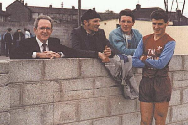 Baby faced Keane happy to pose with Cobh Ramblers fans - pic from Cobh Ramblers