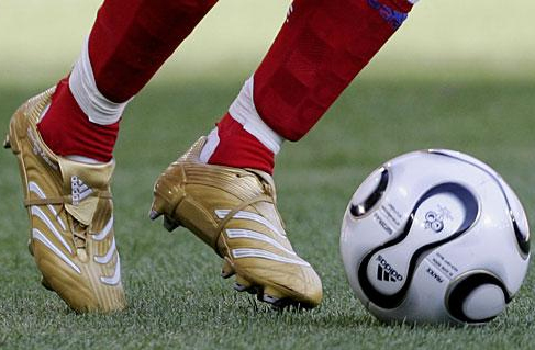 Gold Adidas Predator Football Boots