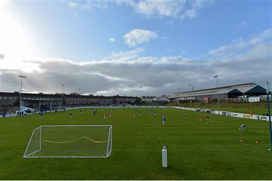 12 April 2014; A general view of Jackman Park. FAI Junior Cup Semi-Final, sponsored by Aviva and Umbro, Ballynanty Rovers, Limerick v Collinstown FC, Neilstown, Co. Dublin.Jackman Park, Limerick. Picture credit: Brendan Moran / SPORTSFILE