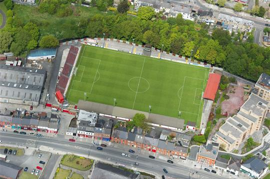 An aerial view of Richmond Park, Inchicore. Dublin. Picture credit; Brendan Moran / SPORTSFILE