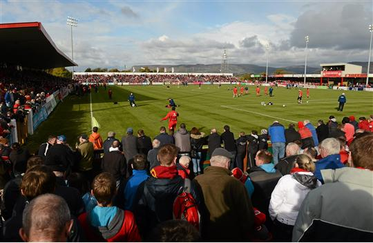 13 October 2012; A general view before the start of the game. Airtricity League Premier Division, Sligo Rovers v St Patrick's Athletic, Showgrounds, Sligo. Picture credit: David Maher / SPORTSFILE