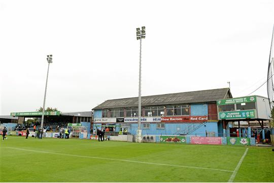 A general view of Hunky Dorys Park. FAI Ford Cup, Semi-Final, Drogheda United v Dundalk, Hunky Dorys Park, Drogheda, Co. Louth. Picture credit: Brendan Moran / SPORTSFILE