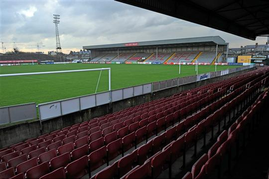 A general view of Dalymount Park, Phibsborough, Dublin. Picture credit: David Maher / SPORTSFILE