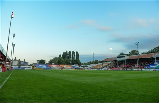 A general view of Lissywollen Stadium. Men's U17 European Championship Qualifier, Republic of Ireland v Greece, Lissywollen Stadium, Athlone, Co. Westmeath. Picture credit; Paul Mohan / SPORTSFILE