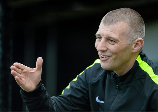 16 May 2015; Trevor Croly, Bray Wanderers Manager. SSE Airtricity League Premier Division, Bray Wanderers v St.Patrick's Athletic, Carlisle Grounds, Bray, Co. Wicklow. Picture credit: Ray Lohan / SPORTSFILE