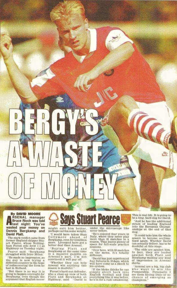 Pearce on Bergkamp