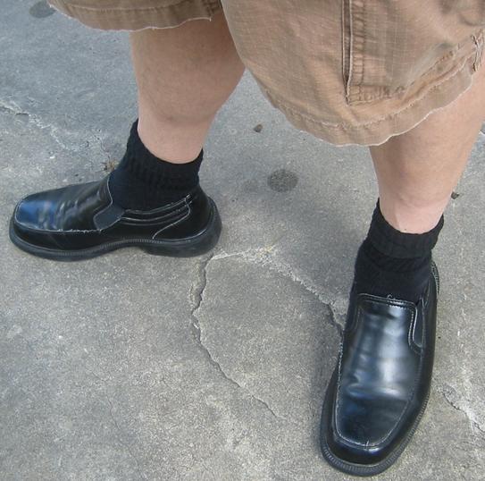Black Socks Dress Shoes Shorts