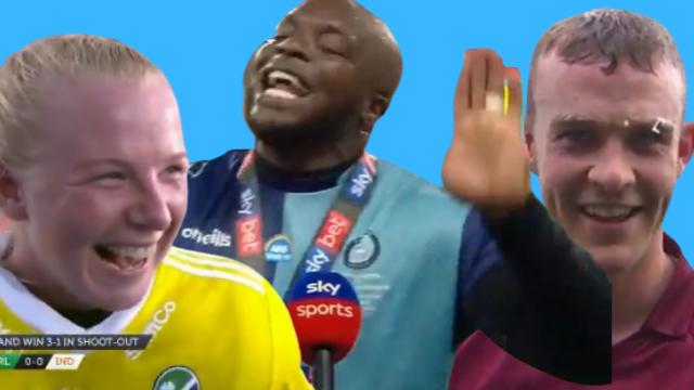 Post-match interviews