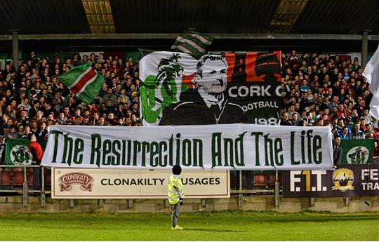 3 March 2015; Cork City supporters before the game. SSE Airtricity League Premier Division, Cork City v Limerick FC. Turner's Cross, Cork. Picture credit: Diarmuid Greene / SPORTSFILE