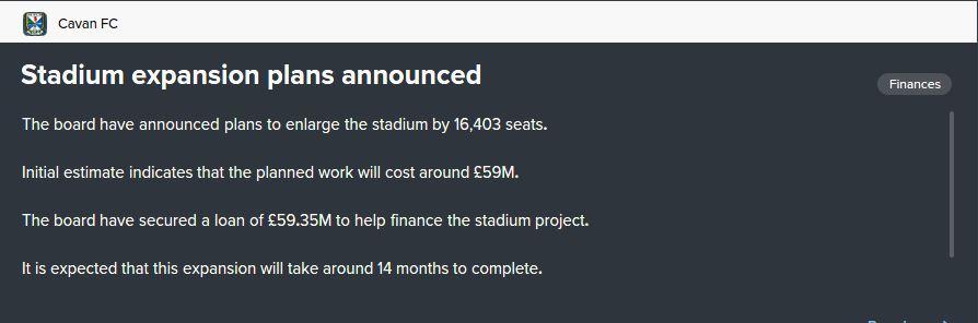 stadium extension