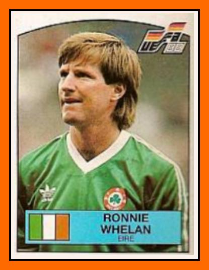 Ronnie WHELAN Panini Irlande 1988