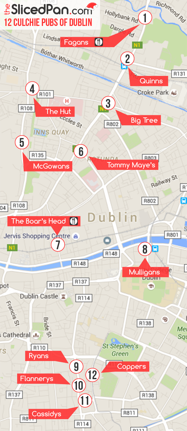 12 culchie pubs of dublin