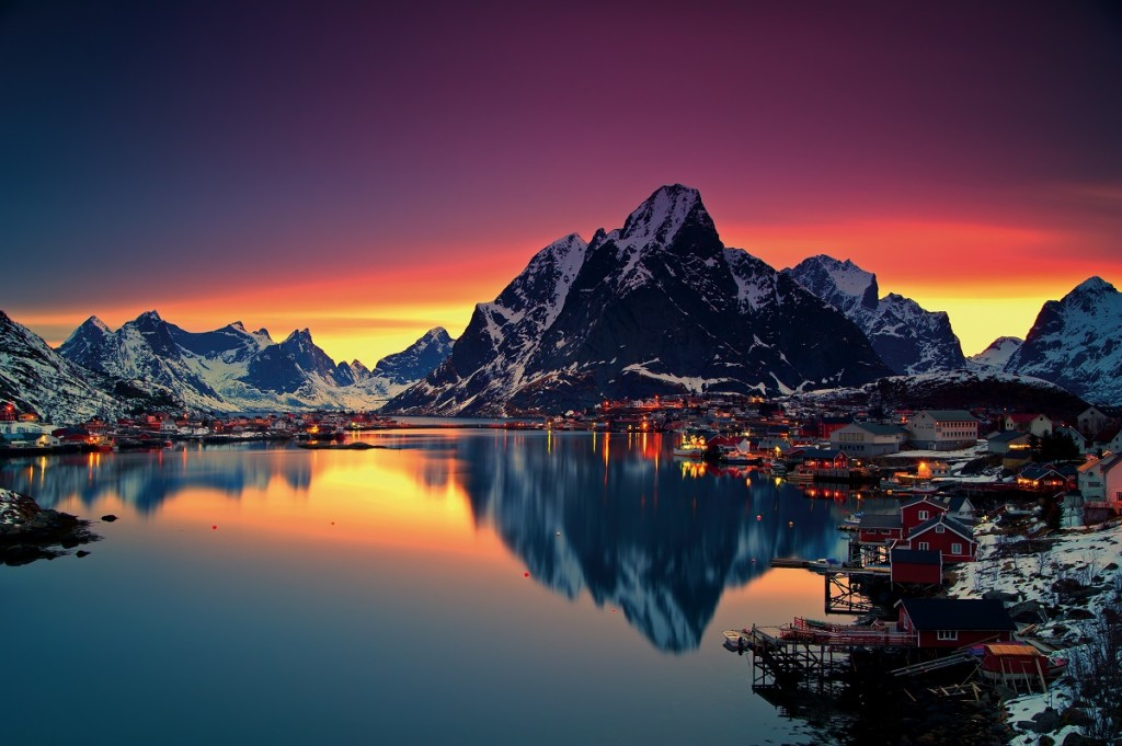 The kind of picture of Norway you'd usually see in one of these articles.