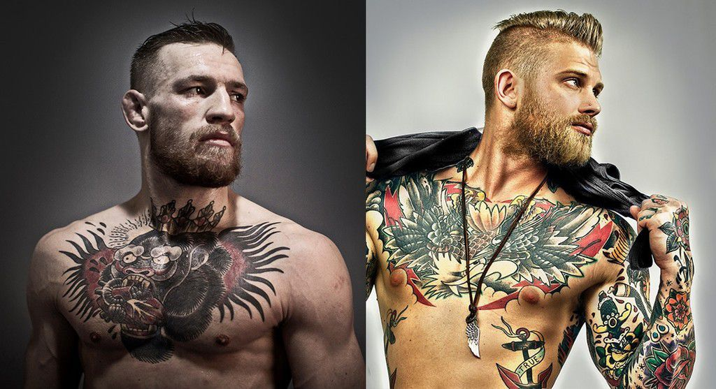 Did conor mcgregor steal his look from a male tattoo model for Jacks tattoo lost