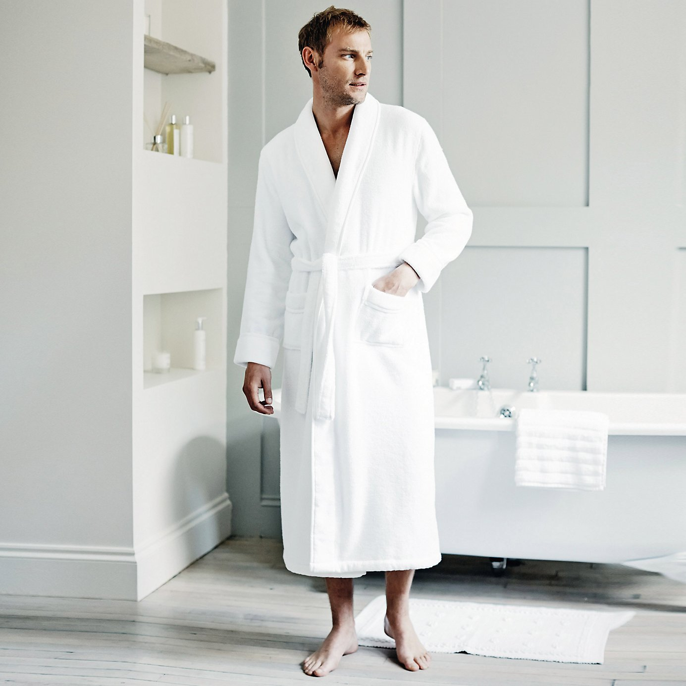 Nice Mens Cotton Dressing Gown Ensign - Top Wedding Gowns ...