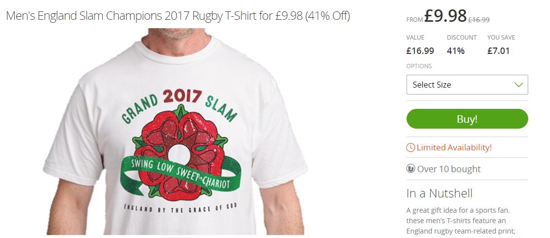 england grand slam t-shirt
