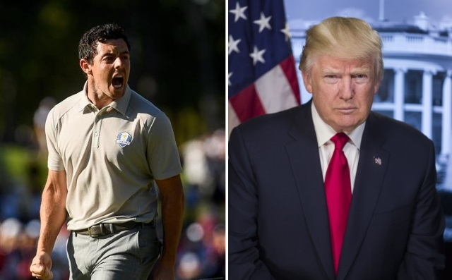 Rory McIlroy plays 18 holes with Donald Trump