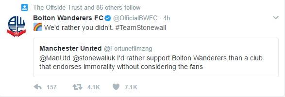 Bolton Wanderers homophobic fan