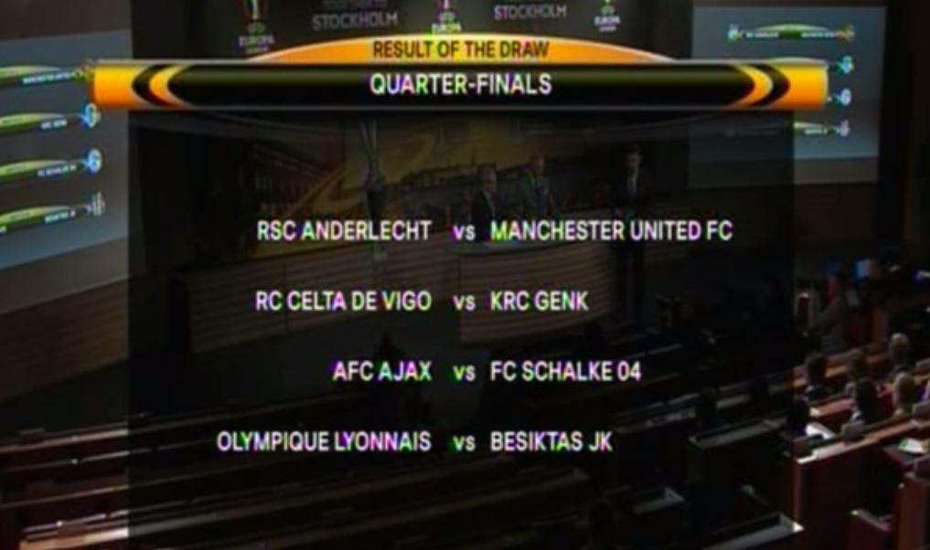 The Europa League Quarter Final Draw Has Been Made Balls Ie