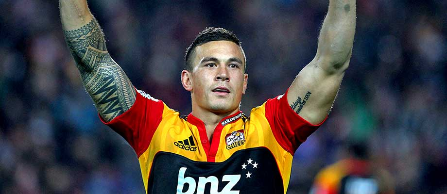 why does sonny bill williams tape over his shirt sponsor