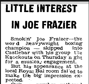 joe frazier in ireland
