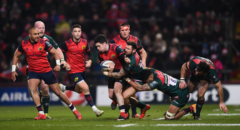 Munster grind out victory over undisciplined Leicester