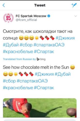 spartak moscow tweets