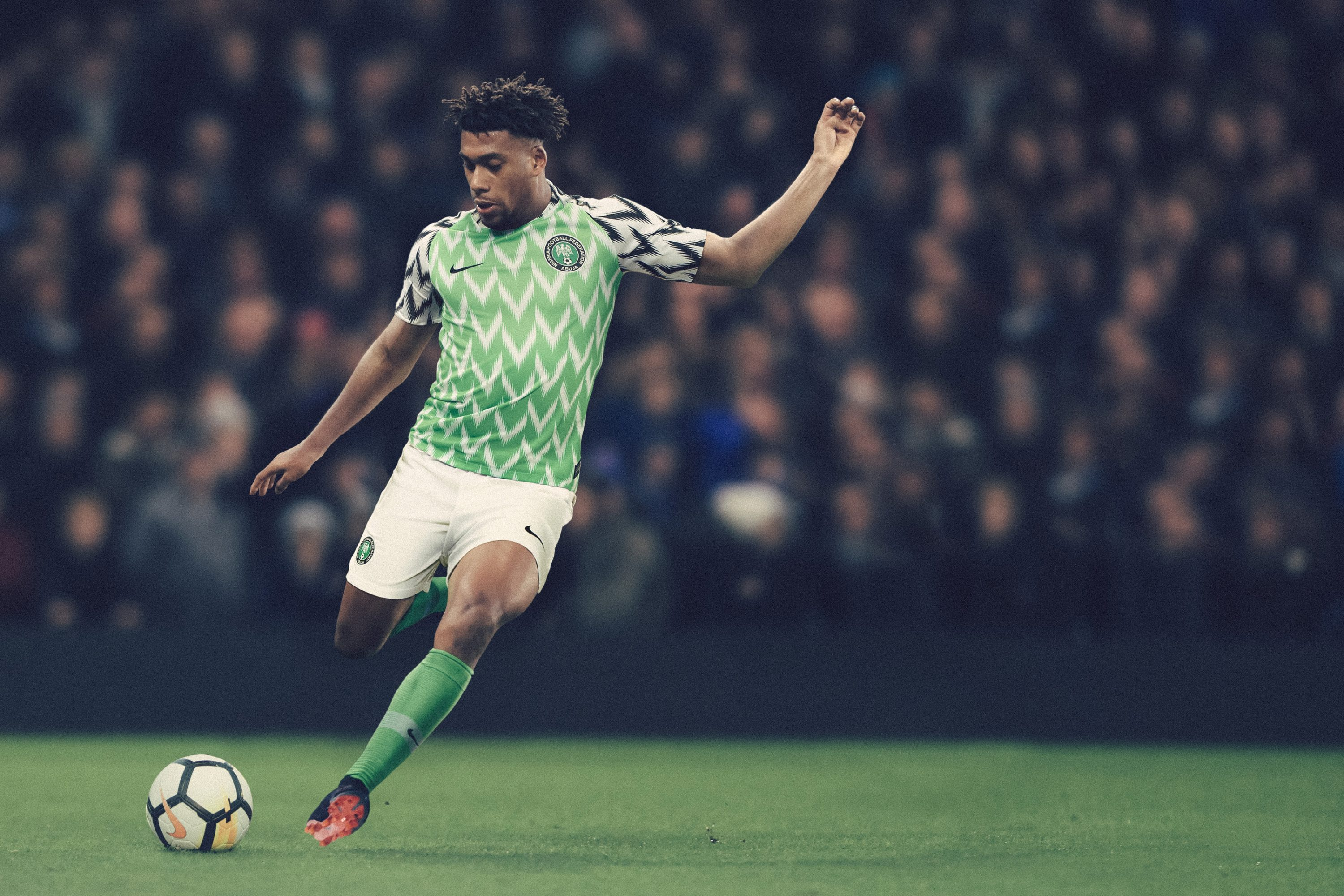 Iwobi unveils Super Eagles World Cup kit in London