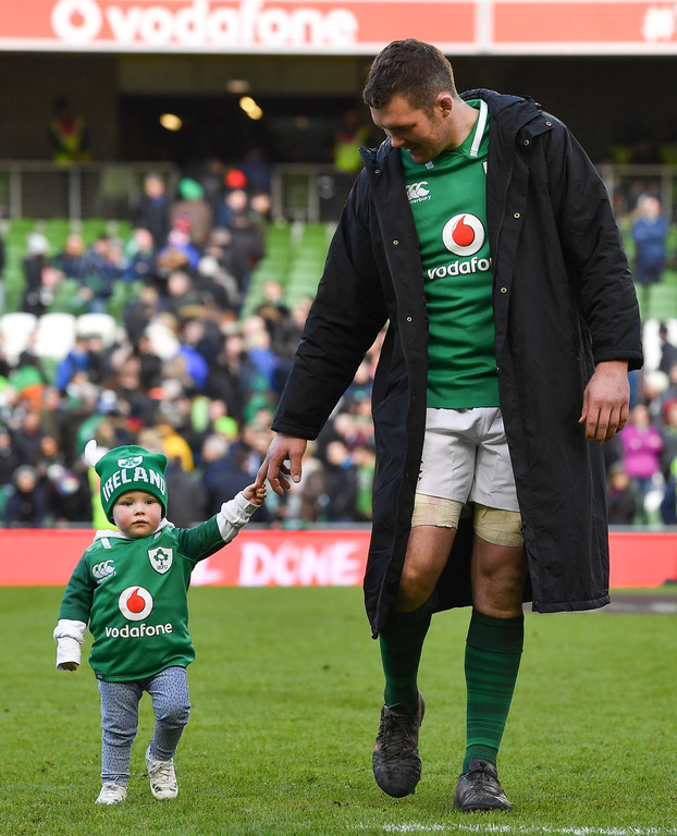 Irish players get party started after Six Nations victory