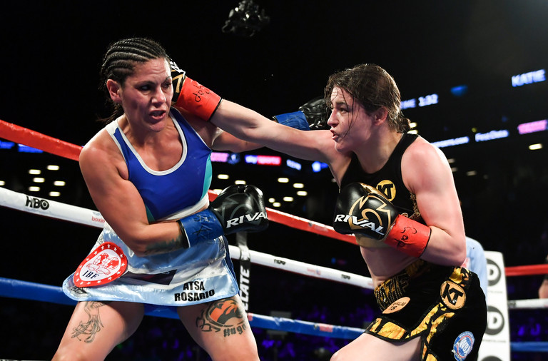 What time is Katie Taylor fighting?